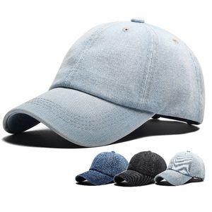 2018 New Denim Bola Caps Moda Unisex Cap Sólida Chapéus Protetor Solar Ajustável para Homens e Mulheres Personalização Caps