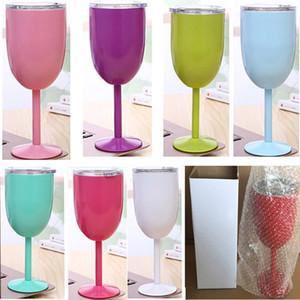 10oz Şarap Gözlük Paslanmaz Çelik Çift Vakum Çift katmanlı termo fincan Drinkware Şarap Gözlük Kırmızı Şarap Kupalar Noel TY7-296