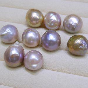 Nuevos granos DIY inusual púrpura amarillo grande de la perla barroca Edison Natural 9-12mm suelta perlas de accesorios de perlas al por mayor envío gratuito