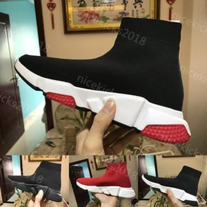 Meia Sapato Velocidade Trainer Tênis Com caixa de Alta Qualidade Sneakers Speed Trainer Meias Corredores de Corrida sapatos pretos homens e mulheres Calçados Esportivos