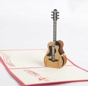 3D стерео гитара поздравительная открытка фортепиано карты пользовательские творческий ручной поздравительная открытка оптом производитель прямых продаж