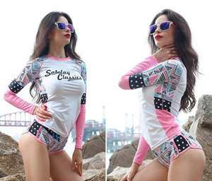 Women Wetsuit Print stitching Surf Diving Equipment Jellyfish Clothing Long Sleeved For Snorkeling Scuba Diving Surfing in Womens Size M-3XL