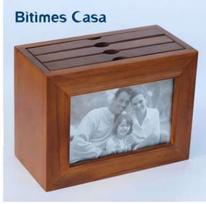 Bitimes Vintage Antique Photo Frame De Madeira 4 '* 6' Com Foto ALbum 15 * 10 CM Combinação De Photo Fram e Álbum de Decoração Para Casa