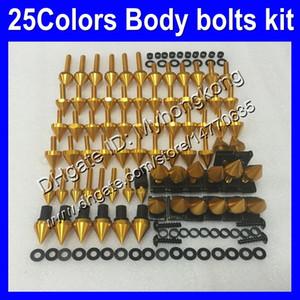 pernos carenado completo kit de tornillos para Kawasaki ZX6R 07 08 ZX6R ZX 6 R 07-08 ZX 6R ZX6R 2007 2008 07 tornillos tuercas del cuerpo 25colors juego de pernos de tuerca