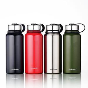 سعة كبيرة غير القابل للصدأ الترمس قارورة في الهواء الطلق المحمولة الرياضة العزل الحراري شرب فراغ زجاجة ماء مع مقبض