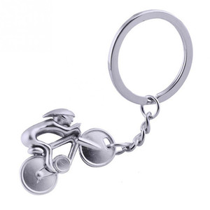Fashion Zinc alloy Motorcycle bicycle mountain bike the key chain mini keychain bicycle key ring shape Small pendant