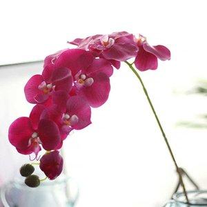 Fleurs décoratives Décoration Parti Soie Orchidée Artificielle Têtes De Fleurs Papillon Orchidée Fleurs pour La Décoration De Mariage