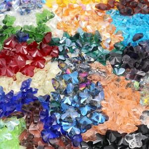 Cor misturada por atacado 100 pcs colorido borboleta crystal cordão 11x14mm grânulos de vidro soltos espaçador grânulos diy jóias fazendo áustria crystal beads