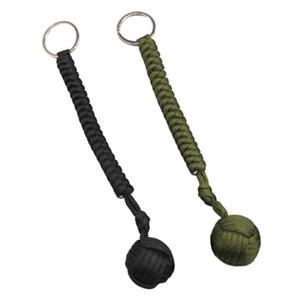Открытый стальной шариковый защитный подшипник самообороны веревка шнур инструмент выживания брелок многофункциональный брелок браслеты LF009