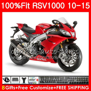 Injection for Aprilia RSV4 RSV1000RR RSV1000 10 11 12 13 14 15 Red 77HM13 RSV 1000 ص RSV1000R 2010 2011 2012 2013 2015 Fairing Kit