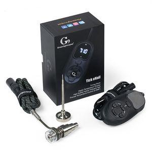 Hot Smartest Portable G9 Tick Enail Kit Elettrico Dab Nail Pen Rig Wax Box 16mm Riscaldatore Coil Titanio ENail tubo di vetro in forma