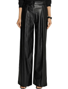 2017 Summer Plus Size 7XL Women PU Leather Pants Leggings Black Sexy Ladies Female Loose Trousers