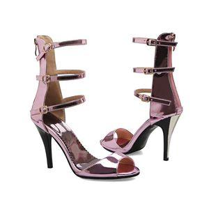 Favofans Ladies Womens Buckle Strap High Heel Peep Toe Sandali Zip Stivaletti Scarpe FF-S557 US UK EUR Taglia su misura