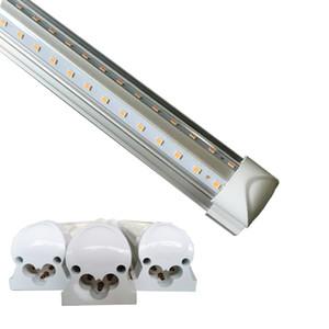 Luces 8 PIE LED 8 pies tubo llevado luz en forma de V T8 integración de alto brillo 2 pies 3 pies 4 pies 5 pies 6 pies 52W 56W 8 pies luz del día 4000-4500K