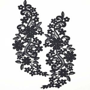 Yamalar için kumaş yaka Trim Boyun Çizgisi Aplike elbise / düğün / gömlek / giyim / DIY / Dikiş çiçek Çiçek İşlemeli dantel güzel