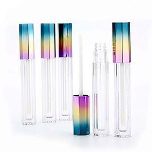 5ML vide élégant octogonal 3 Couleur Gradient Lip Gloss Tube liquide brillant à lèvres Rouge à lèvres récipient cosmétique Bouteille de stockage