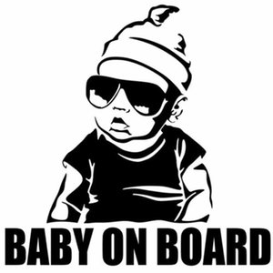 15.5*15.2CM BABY ON BOARD Baby in car Creative Fashion Car Sticker Tail Warning Sign Decal waterproof warning decal stickers 2 Colors