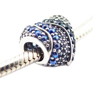 Aqua for fits سوار سحر الفضة صنع المجوهرات الأصلية الخرز مجوهرات فضفاضة 925 باندورا 925 سحر الفضة القلب ل 2021 الربيع ggtwj