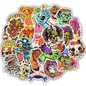 50 قطع سلسلة الإرهاب كتابات الهيكل العظمي الظلام ملصقات مضحك ل diy ملصق على حالة السفر محمول سكيت غيتار الثلاجة