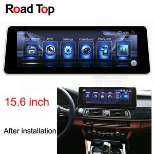 """15.6 """"tela da unidade da cabeça da navegação de GPS do rádio do carro do andróide 6 para BMW F10 F11 520i 523i 528i 530i 535i 550i 518d 520d 525d 530d 535d"""