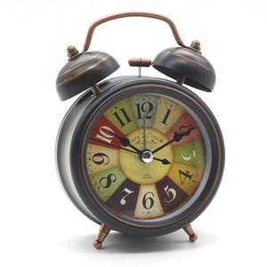 Despertador do vintage relógio de mesa atacado com luz de fundo duplo sino mesa de mesa relógio digital home decor