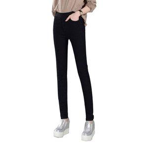 Jeans de femmes New Female Casual taille élastique Jeans Plus Size 38 Slim Denim Long Pencil Pantalon Lady Pantalon Vente Chaude