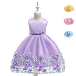 New Flower Girl Dress Anniversaire Prom Party Formelle Tutu Robe Enfants Vêtements