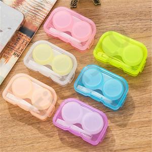 Pouco estilo fresco caixa de lentes de contato caixa de lentes de contato de contatos caixa de lentes de contato caixa de maquiagem 100pcs T1I1022