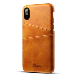 Pour Iphone X Combiné coque carte collection housse de protection derme cuir iphone8 7 6 S9 S8 anti chute carte shell derrière la coque