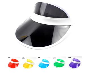 Moda Plástico Viseira de Sol Acessório Do Partido Unisex Proteção UV Chapéu Claro Protetor Solar Tampas de Viagem Ajustável Chapéus De Tênis