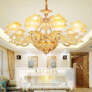 Romantic Flower Crystal Chandelier Lights Europe Style Tiffany Chandelier Light Art Decor Home Villa Hallway Dinning Living Room