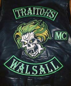 HOT SALE VERRÄTER WALSALL SKULL MOTORRAD COOL LARGE BACK PATCH ROCKER CLUB VESTOUTLAW BIKER MC PATCH FREE SHIPPING