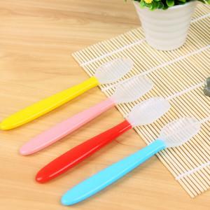 8 шт./лот десертные ложки пищевой силикон детское питание случайный цвет ложка посуда еда суп ковш кухонные инструменты Z-329