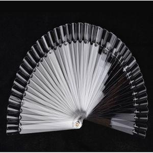 50 / Set Nail Art Tips Stick Display Practice Fan Nail Polish Colore chiaro Campioni / Nail art Sample Art Strumenti Practice