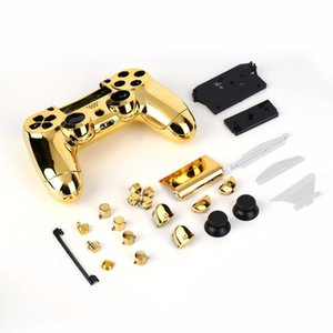 Freeshipping Full Shell Shell Cover Cover Case Set Set avec boutons complets de remplacement du kit pour Playstation 4 PS4 Controller Gold