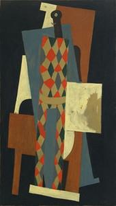 Famoso Pablo Picasso Arlecchino Dipinto A Mano HD Stampa Arte Astratta pittura a olio Della Parete Della Casa Decor su Tela di Alta Qualità Multi Dimensioni g168