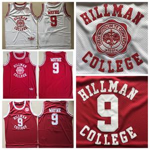 Mens Dwayne Wayne 9 Hillman Colégio Teatro Basketball Jersey mundo diferente costurado Moive Dwayne Wayne basquetebol camiseta