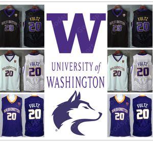 HOT WashingtonHuskies 대학 20 Markelle NCAA 스티치 자수 스윙 맨 유니폼 저지 퓰츠 셔츠 싼 도매 생일 선물