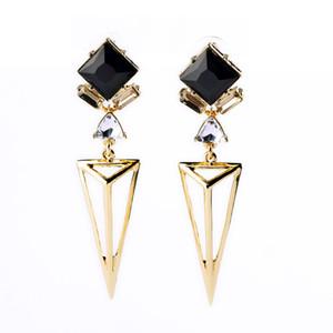 Nueva joyería del diseñador para el colgante trigonométrico noble y lujoso para mujer clavos del oído Moda personalidad Pendientes de gota Joyería de moda