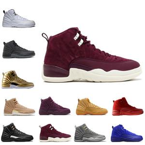 12 12s hombres baloncesto zapatos Wheat Dark Grey Bordeaux Flu juego The Master Taxi Playoffs French Blue Barons entrenadores deporte zapatillas diseñador