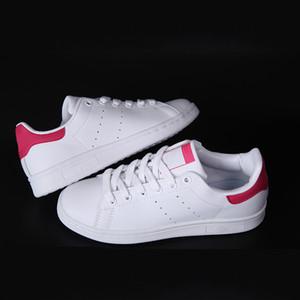 Скидка новый мужской Стэн Смит мокасины классический кожаный дышащий колледж красный повседневная обувь для женщин лучший Стэн Смит обувь с коробкой size36-44