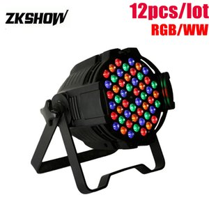 80% Discount Party Light 54*3W RGB Warm White LED Par Light Wash DMX DJ Disco Party Wedding Stage Lightings Effect Projector Free Shipping