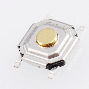 Ücretsiz kargo! 100 adet / grup 100 adet 5 * 5 * 1.5 MM SMD Inceliğini Anahtarı Dokunsal Push Button Mikro Anahtarları 5x5x1.5 MM