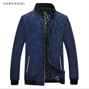 Varsanol Erkek Ceketler Bahar Baskı Ceket Erkekler için 2018 Yeni Polyester Rahat Dış Giyim Fermuar ile Cep Ceket Ince Tarzı Hots