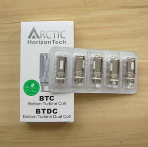 Grande qualidade Horizon Arctic BTC BTDC bobina de cabeça 0.2ohm 0.5ohm BTDC inferior Turbina dupla Bobinas para Horizon Arctic subtanque Atomizer tanque