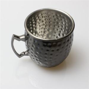 모스크바 뮬 머그잔 참신 스테인리스 컵 드럼 타입 맥주 블랙 컵 Drinkware 바 용품 Simple Style 22yf ii