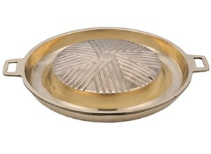 agua de plato barbacoa carne sartén de cobre sartén de la estufa portátil freír carne asada shabu-shabu 043