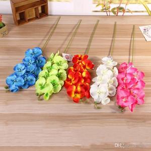 Moth Orchid Wedding Party Para Flores artificiais Simulação falsificação flor Início desktop Decorações plantas muitas cores 2 6LX ZZ