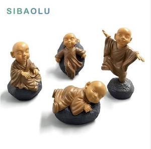 Feng shui reçine Buda heykeli rahipler minyatür peri figürleri bonsai bahçe ev dekorasyon aksesuarları dekor kawaii ofis oyuncaklar