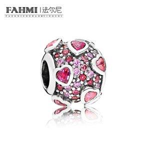 FAHMI 100% 925 Sterling Silver 1:1 Original 796555CZSMX Authentic Temperament Fashion Glamour Retro Bead Wedding Women Jewelry